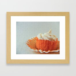 Dreamsicle Cupcake Framed Art Print
