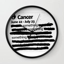 Cancer 1 Wall Clock