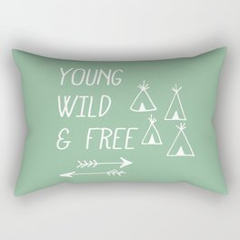 Young, Wild & Free Rectangular Pillow