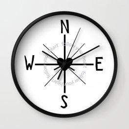Heart Compass Wall Clock
