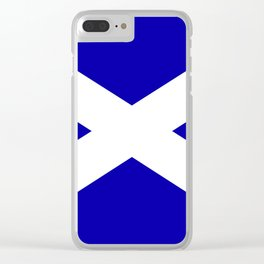 Scottish Flag Clear iPhone Case