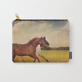 Sissy And Indie With Clouds Carry-All Pouch
