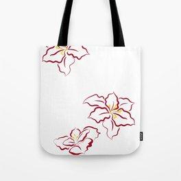 Poinsettia - white Tote Bag