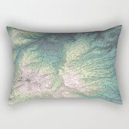 Mount Hood, Oregon Topographic Contour Map Rectangular Pillow