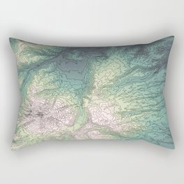 Mount Hood, Oregon Topographic Contour Map Rectangular Pillow