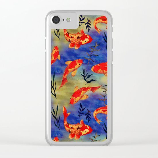 The deep water- koi fishes - watercolor Clear iPhone Case
