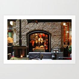 Restaurant Window Art Print