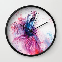 Siamese Fish Art Wall Clock