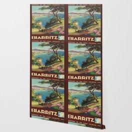 Vintage poster - Biarritz, France Wallpaper