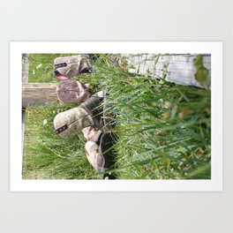 Girls and Their Boots Art Print