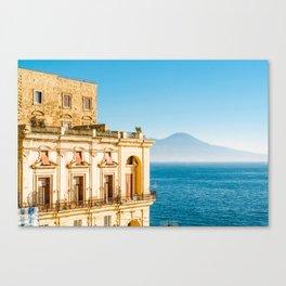 Donn'Anna palace, Naples Canvas Print