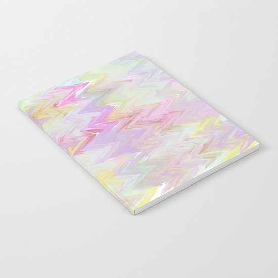 Pastel Waves Abstract - Painterly Notebook