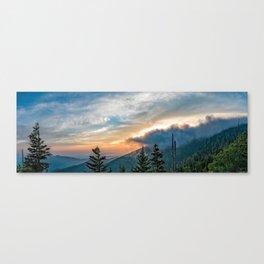 Great Smoky Mountains Sunset Landscape Canvas Print