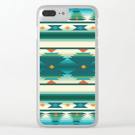 American Native Pattern No. 160 Clear iPhone Case