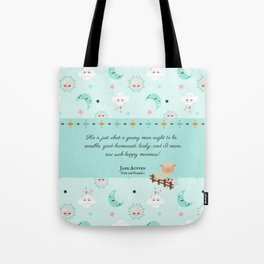 Just What a Young Man Ought to Be (Pride and Prejudice Quote) Tote Bag