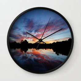 Florida Sunset Wall Clock