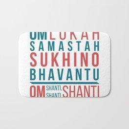 Lokah Samastah Mantra Yoga Bath Mat