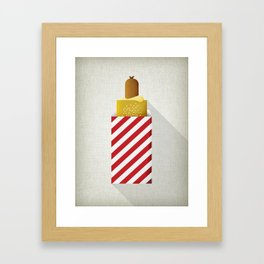 French Hotdog Framed Art Print
