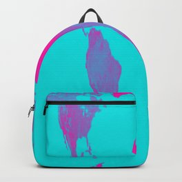 World Map : Gall Peters Turquoise & Pink Backpack