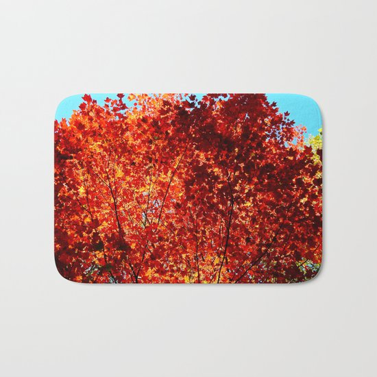 Red Maple Explosion Bath Mat
