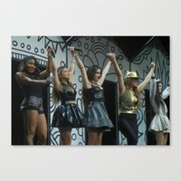 fifth harmony Canvas Prints featuring Fifth Harmony by Halle