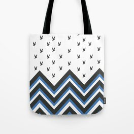 Birds and Chevrons Tote Bag