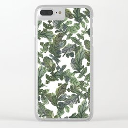 Beetroot Leaves Clear iPhone Case
