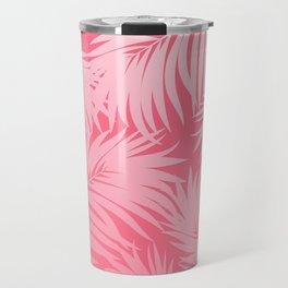 Palm Tree Fronds c'est parfait on pink Hawaii Tropical Décor Travel Mug