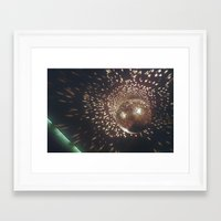 disco Framed Art Prints featuring disco by oanauciuf