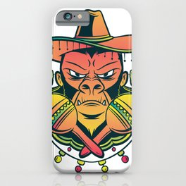 Mexican Gorilla iPhone Case