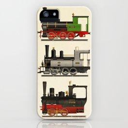 Groovy locomotives iPhone Case