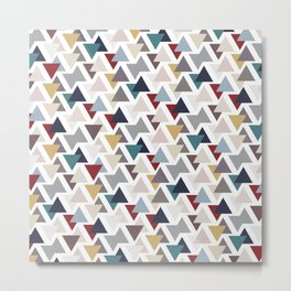 Scatter triangles Metal Print