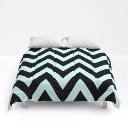 Teal & Black Chevron Comforters