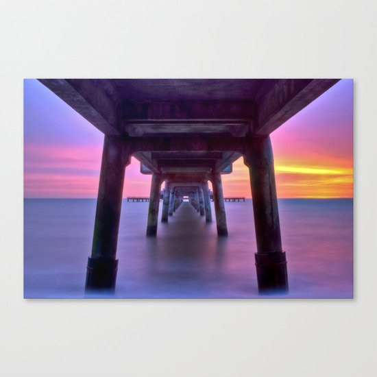 Deal Pier at Sunrise Canvas Print