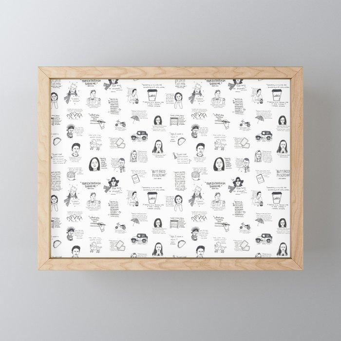 Gilmore Girls quotes Framed Mini Art Print