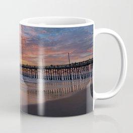 Painted Sky Over Newport Pier Coffee Mug