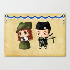 Scottish Chibis Canvas Print