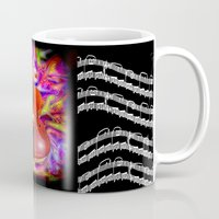 cello Mugs featuring Psychedelic Cello by JT Digital Art