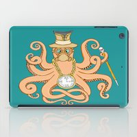 steam punk iPad Cases featuring Steam Punk Octopus by J&C Creations