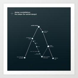 design constellations: the caliper Art Print