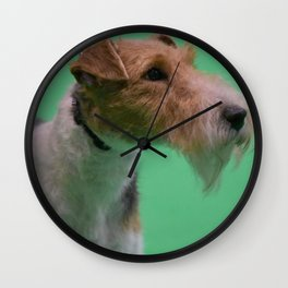 Wire Haired Fox Terrier Wall Clock