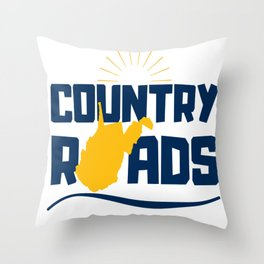 Country Roads West Virginia Sunrise Gifts Throw Pillow