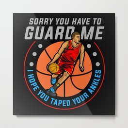 basketball, basketball basketball girl, Point Metal Print