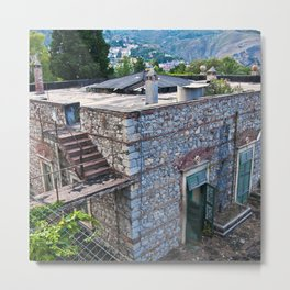 Abandoned Villa in Taormina on the Isle of Sicily Metal Print