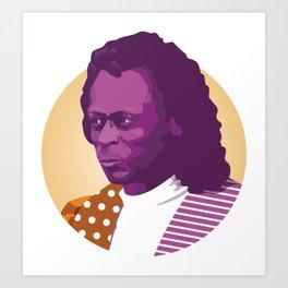 Jazz legend Art Print