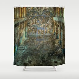 Apocalyptic Vision of the Sistine Chapel Rome 2020 Shower Curtain