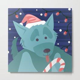 Christmas Dog - version 2 Metal Print