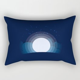 Moon and star on a mountain Rectangular Pillow