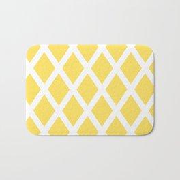 Yellow Diamonds Bath Mat