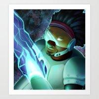 big hero 6 Art Prints featuring Big Hero 6- Wasabi by prpldragon